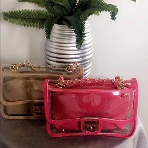 Handbags - Transparent Two-in-One Crossbody Bag
